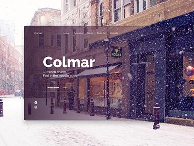 New Year Colmar snow new year ui design web