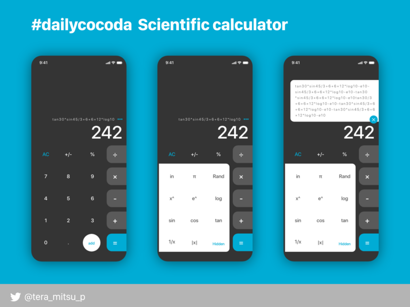 Scientific calculator app ui design uidesign ui dailyui design