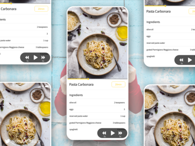 Cooking Recipe Page