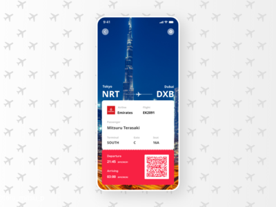 Daily UI Challenge #024 Boarding Pass
