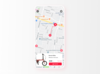 Daily UI Challenge #034 Rental bicycle MAP