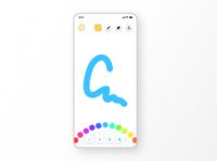 Children's drawing app