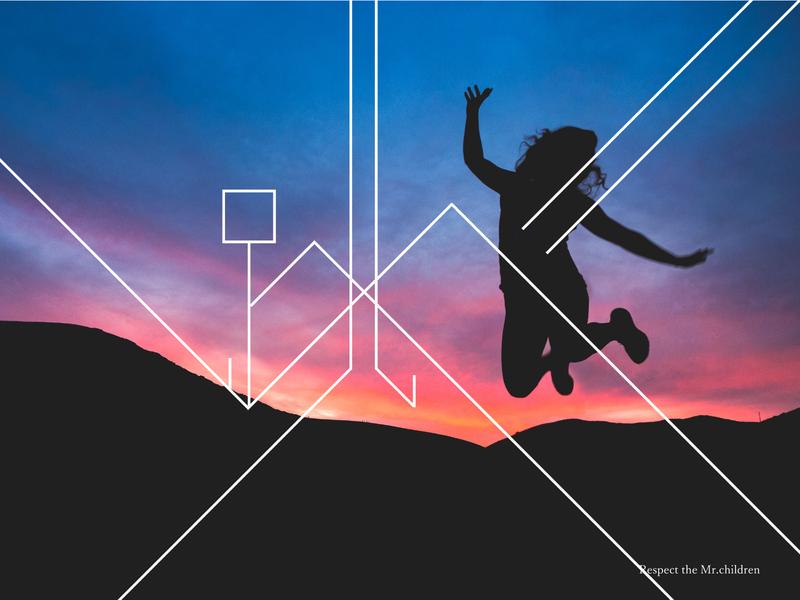 Mr.children 跳べ(Jump) typographie cover design title design design typography design art designer designs design typography design typography art typographic typography typogaphy typo