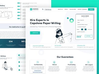 Academic help for medical students illustrator icon website web ux ui illustration design