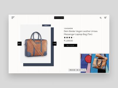 Dein kleider UI website design design webdesign ux ui