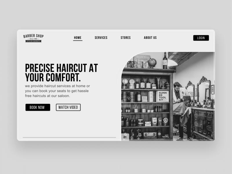 Online saloon concept webui website design design ux webdesign ui