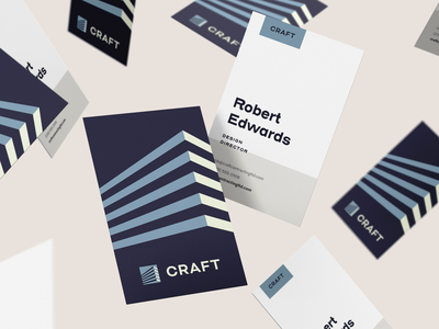 Craft Contracting – Business Cards toronto logo branding brand design identity business card design