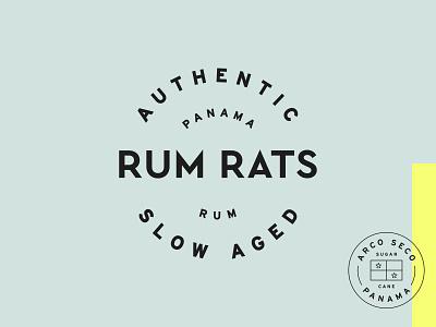 Rum Rats – Badges branding logotype craft rum graphic design brand identity logo circle wordmark typogaphy badge