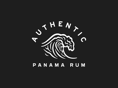Rum Rats – Wavemark Badge rat wave badge typography icon arch arc logo identity brand design graphic rum craft logotype branding