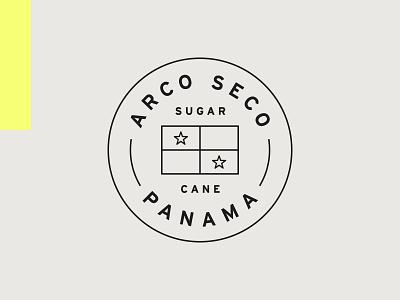 Rum Rats – Secondary Badge panama arch star badge typography wordmark circle logo identity brand design graphic rum craft logotype branding