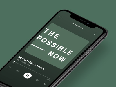 The Possible Now Podcast – Cover Art two color green wordmark typography cover art sustainability branding graphic design podcast identity brand logotype logo