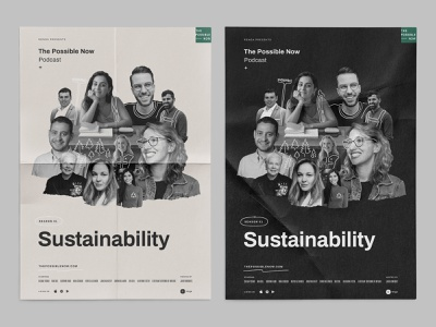The Possible Now Podcast – Poster layout typography line sketch illustration sustainability eco green poster design graphic podcast logotype logo identity branding brand