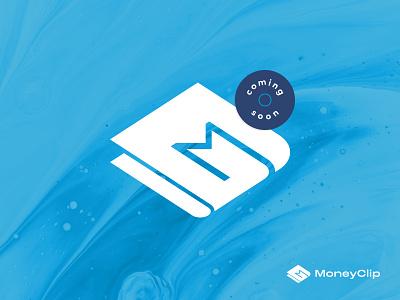 MoneyClip – Logomark app two color two colour startup illustration design graphic clip money icon branding brand identity logomark logotype logo