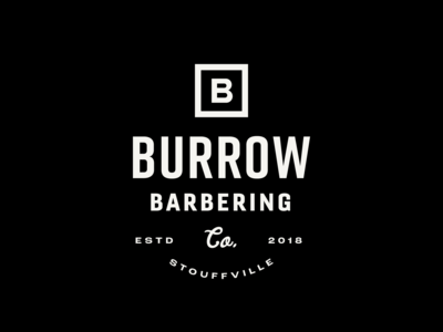 Logo Design – Burrow Barbering Co.