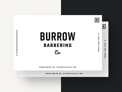 Business Card – Burrow Barbering Co.