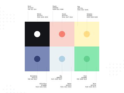 Colour Palette – Lunie.io two color graphic fun app startup palette identity design brand colour