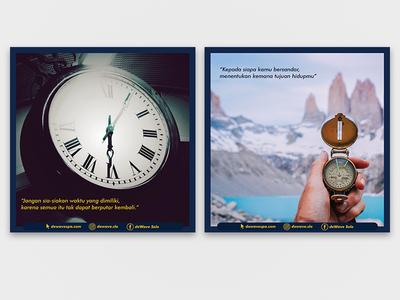 Social Media Content for deWave Spa and Reflexology social media vector graphic design design branding