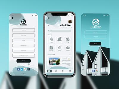 OZ Homestay | Home UI vector ux design ui