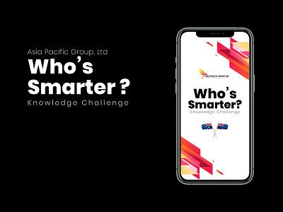 Who's Smarter for APG uiux graphic iu visual design graphic design design ux ui