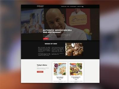 Profile & E-commerce Website for Mosaic by Simo webdesign logo branding ui