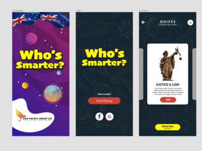 Asia Pacifi Group Apps   Who's Smarter? graphic design branding ux ui design
