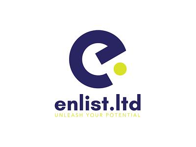 Logo Design for Enlist.Ltd typography graphic design branding design logo design