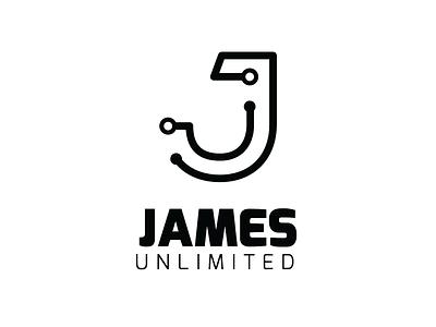 Logo Design for James Unlimited rebranding businesscard logo logo design graphic design branding design
