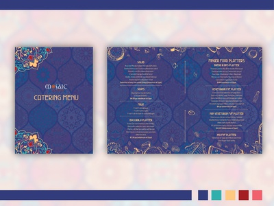 Catering Menu for Mosaic By Simo // Proposal
