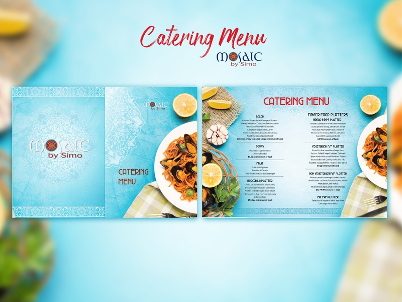 Catering Menu // Mosaic by Simo // Proposal 02 graphicdesign branding design