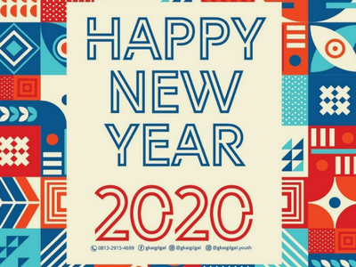 Happy New Year // Design design wallpaper branding