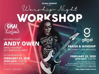 Worship Night // Andy Owen // Fliyer banner design vector graphic design design