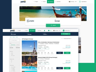 Holidays Package Booking Concept