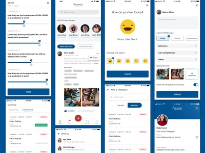 Employees On The Platform Give The Feedback  Request For Feedbac