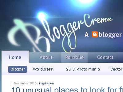 An old Blogger design blogger blog website header logo