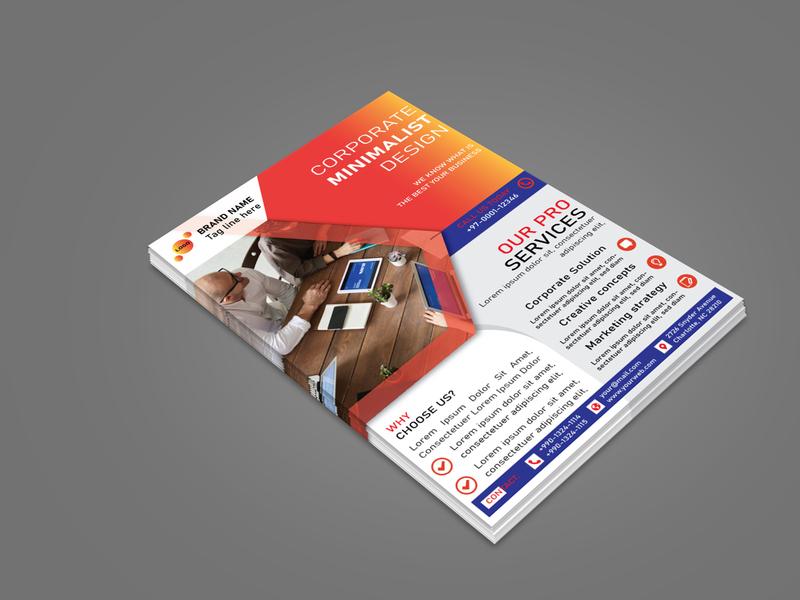 Corporate Flyer brand design brand identity design vector brochure design flyer design flyers flyer branding brand