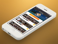 Profile Screen profile screen preview ios iphone iosapp iphone5 iphone5s psd photoshop phone