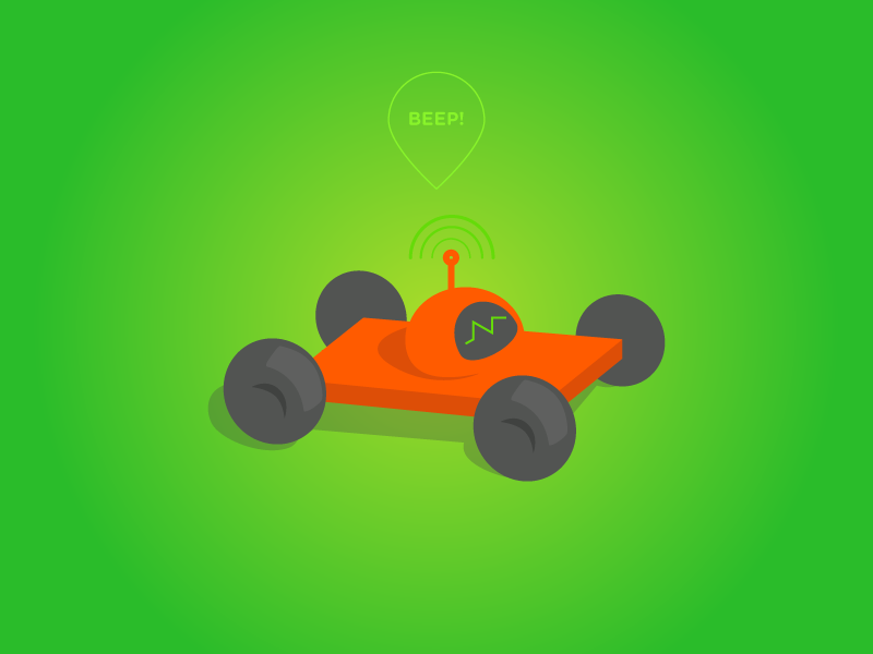 Beep Android Toy Car toy car droid green orange robot