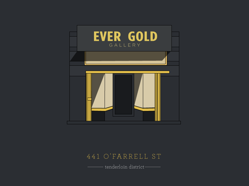 Ever Gold gallery  illustration black yellow gallery art san francisco