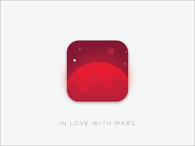 Daily UI :: 005 - App Icon icon app space universe planet mars illustrator design ux ui 005 dailyui