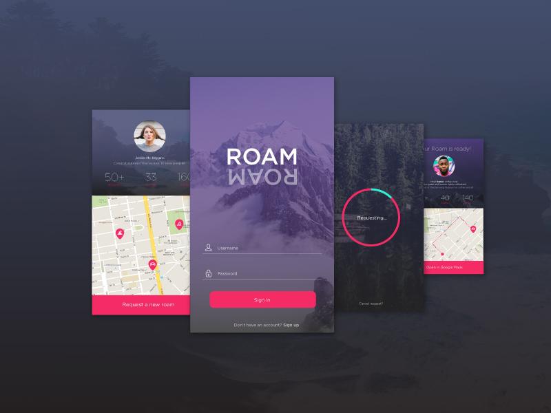 ROAM native react people meet ux ui app