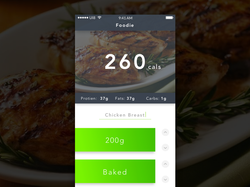Day 004 Food Calorie Calculator By Adam Davies Dribbble Dribbble
