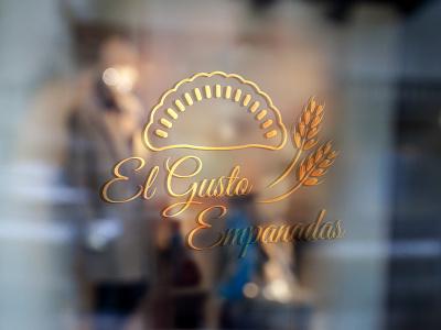 El gusto empanadas print illustration logo design vector logo design branding identity design