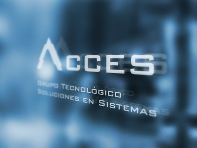 ACCES | Soluciones en Sistemas logo design branding design logotype