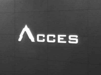 ACCES | Soluciones en Sistemas logo design design identity logo branding