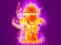"""Burning fire hydrant"""