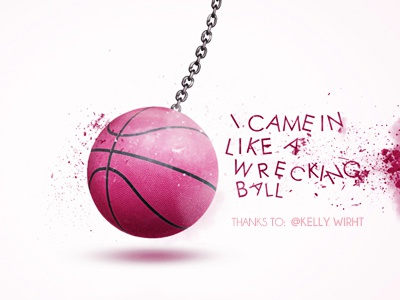 First Shot! pink ball first shot wrecking invite dribbble mexico