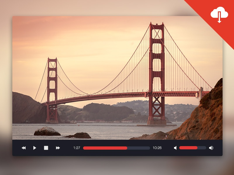 Freebie: Mediaplayer UI freebie mediaplayer ui psd photoshop audioplayer videoplayer