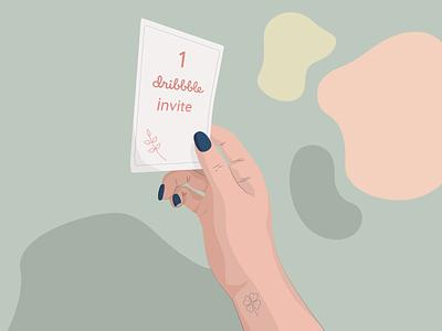 Dribbble invite pastels illustraion dribbble invite invitation invite