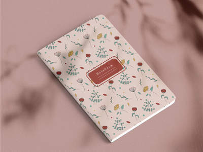Notebooks with floral patterns notebook design notebooks notebook flowers floral adobe illustrator vector illustration vector art vector patterns pattern