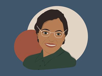 Rosa Parks illustration portrait rosa parks